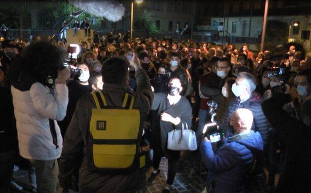 A Piazzale Guglielmotti monta la protesta