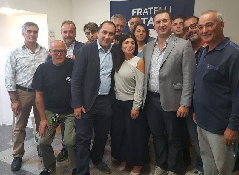 FdI, successo dell'incontro con il consigliere regionale Colosimo. Acclamato Grasso candidato a sindaco