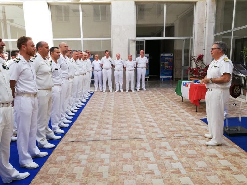 L'Ammiraglio Basile in visita alla Capitaneria di Porto