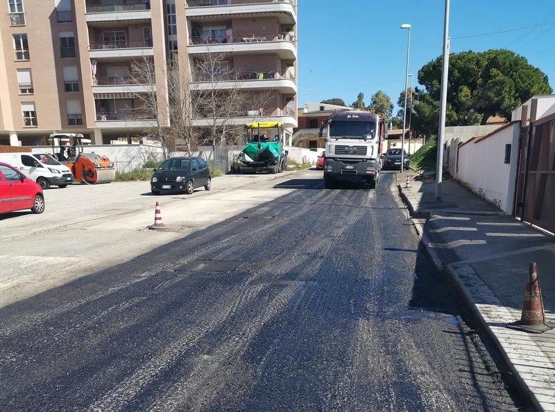 Ripresi i lavori di pavimentazione delle strade