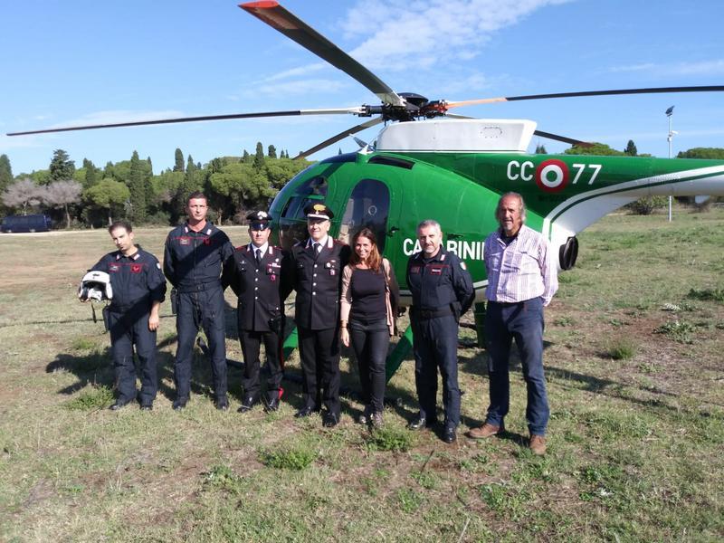Cerveteri, sopralluoghi e pattugliamenti in elicottero di Carabinieri e Soprintendenza