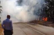 Tornano le fiamme, incendio a via Fontanatetta