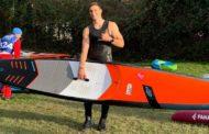 Paddlesurf, il freddo non ferma Pampinella