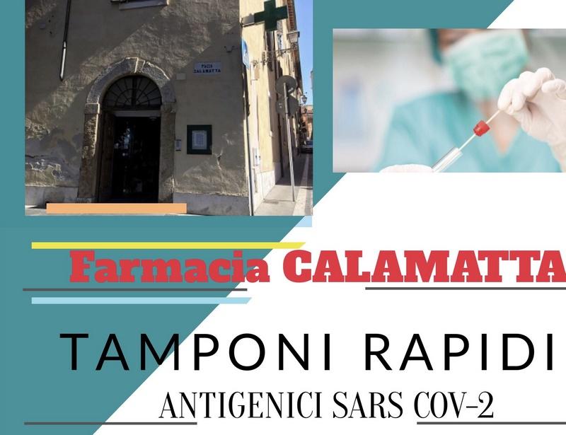 Farmacia Calamatta, da domani parte il servizio tamponi antigenici