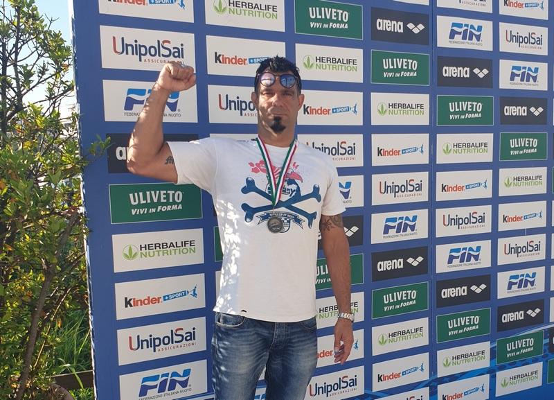 Nuoto, subito un argento per Valiserra agli Italiani Master